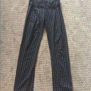 Lululemon pin stripe straight legged pant black 4